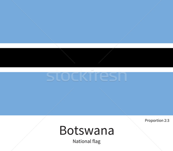 Banderą Botswana skorygowania kolory edukacji Zdjęcia stock © tkacchuk