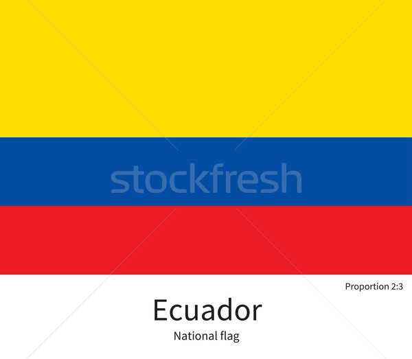 National flag of Ecuador with correct proportions, element, colors Stock photo © tkacchuk