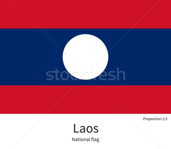 National flag of Laos with correct proportions, element, colors Stock photo © tkacchuk