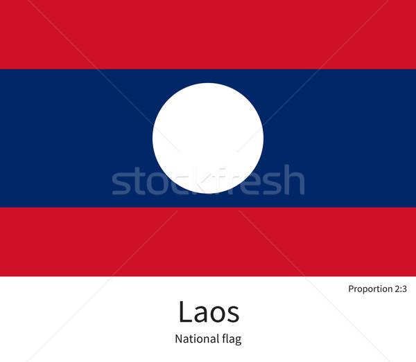 флаг Лаос исправить элемент цветами образование Сток-фото © tkacchuk