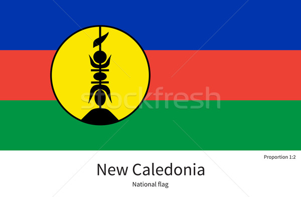 National flag of New Caledonia with correct proportions, element, colors Stock photo © tkacchuk