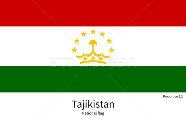 Bayrak Tacikistan düzeltmek renkler eğitim Stok fotoğraf © tkacchuk