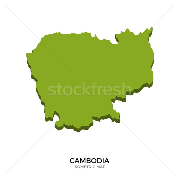 Isometric map of Cambodia detailed vector illustration Stock photo © tkacchuk