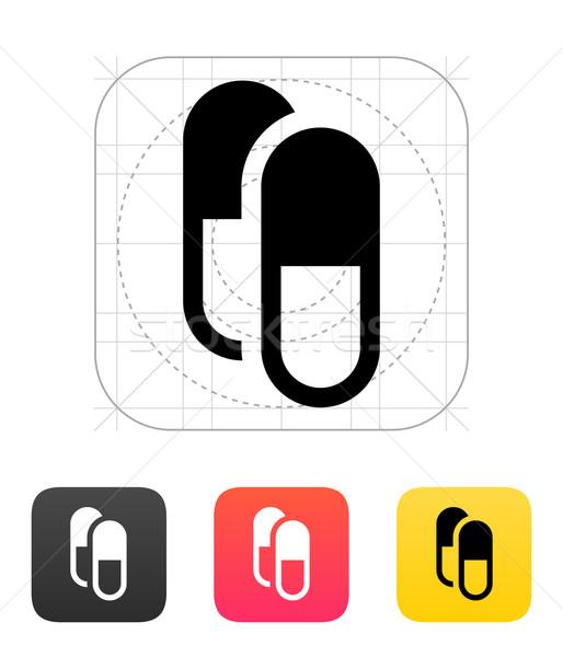錠剤 カプセル アイコン 医療 健康 にログイン ストックフォト © tkacchuk