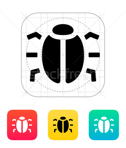 Spion bug icon business ontwerp veiligheid Stockfoto © tkacchuk