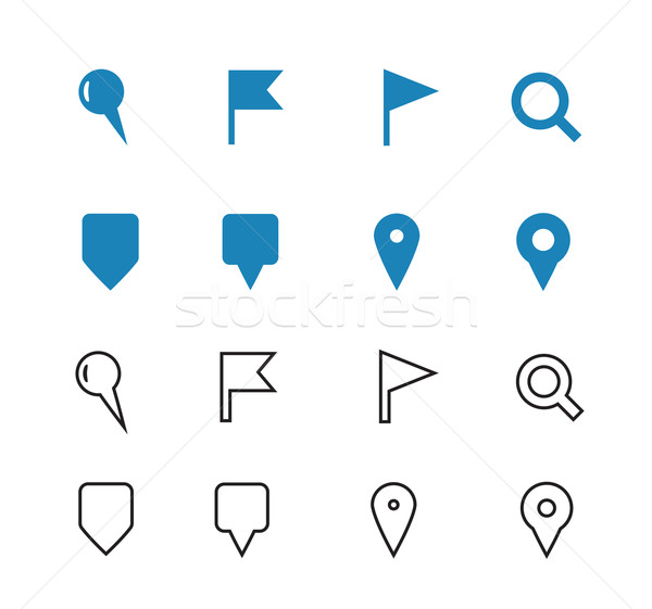 GPS and Navigation icons on white background. Stock photo © tkacchuk