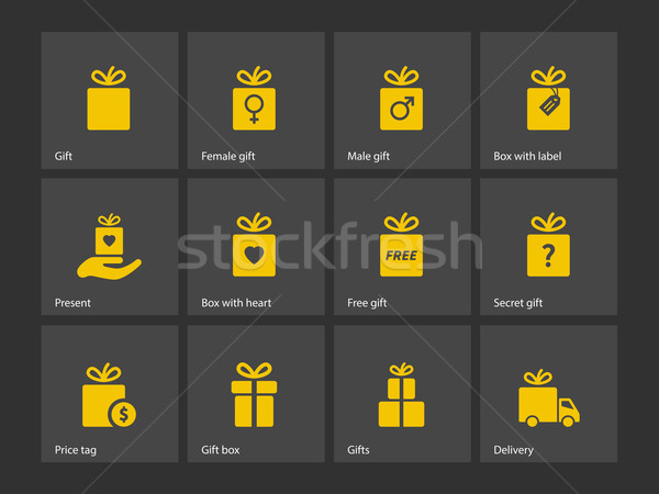 Set of gift box symbols. Stock photo © tkacchuk