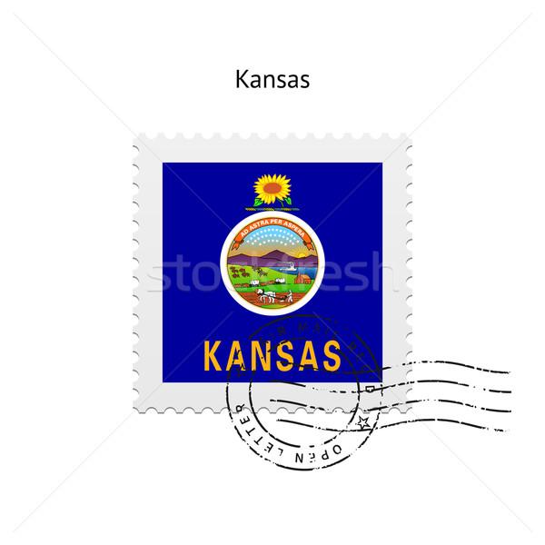 Kansas bayrak beyaz imzalamak mektup Stok fotoğraf © tkacchuk