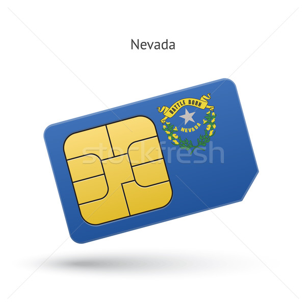 Nevada telefoon kaart vlag business technologie Stockfoto © tkacchuk