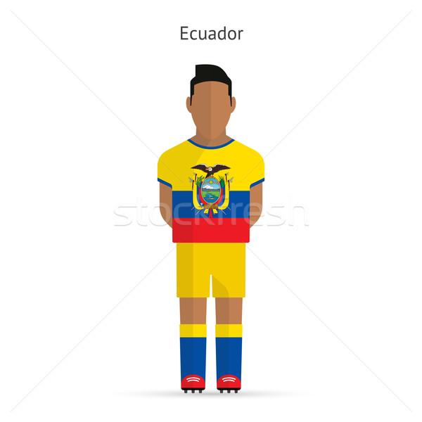 Ecuador football player. Soccer uniform. Stock photo © tkacchuk
