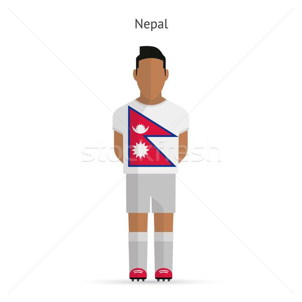 Непал футболист Футбол равномерный аннотация фитнес Сток-фото © tkacchuk