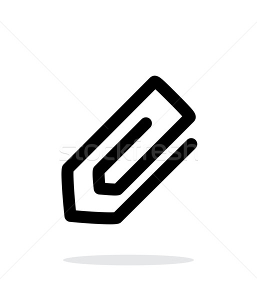 Paperclip icon on white background. Stock photo © tkacchuk