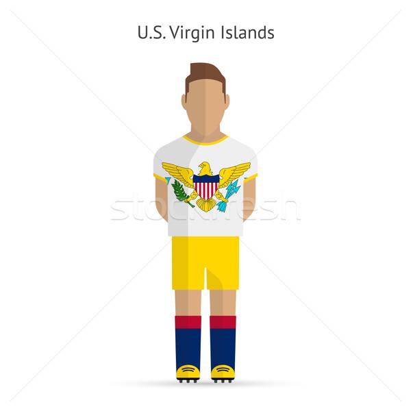 Virgin-szigetek futballista futball egyenruha absztrakt fitnessz Stock fotó © tkacchuk