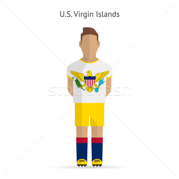 Virgin Islands calcio uniforme abstract fitness Foto d'archivio © tkacchuk