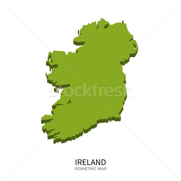 Izometrikus térkép Írország részletes izolált 3D Stock fotó © tkacchuk