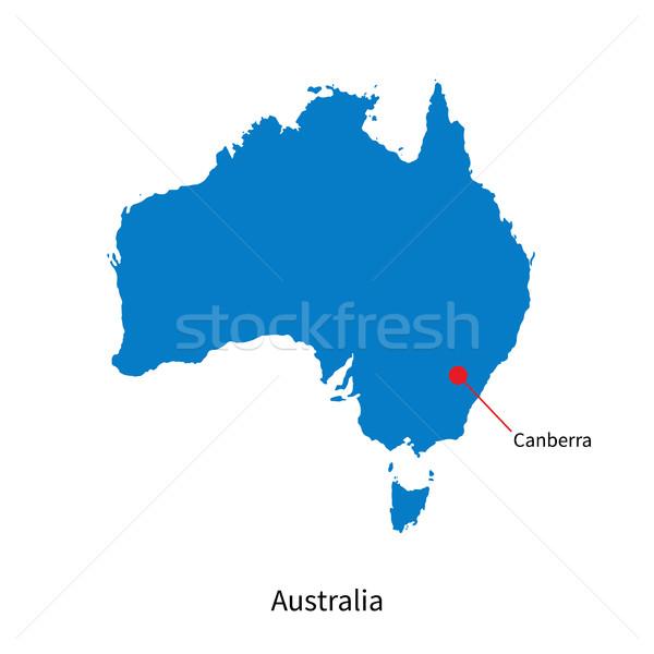 Detalhado vetor mapa Austrália cidade Canberra Foto stock © tkacchuk