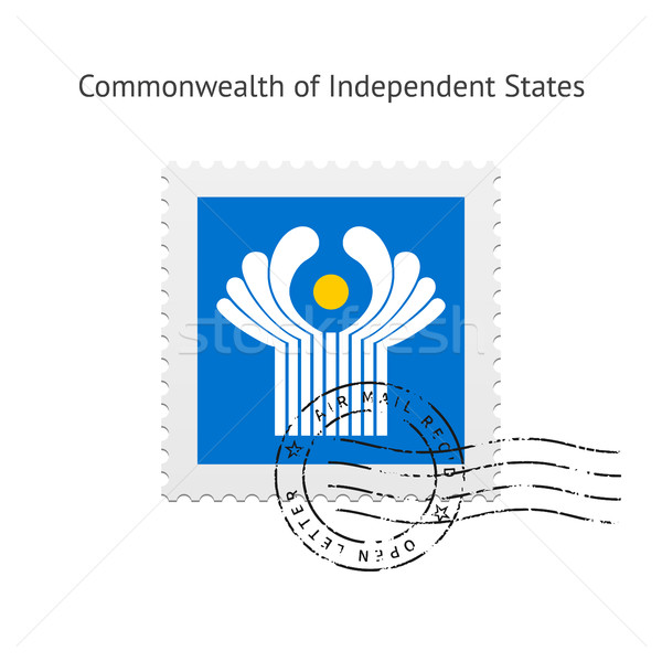 независимый флаг почтовая марка белый кадр знак Сток-фото © tkacchuk