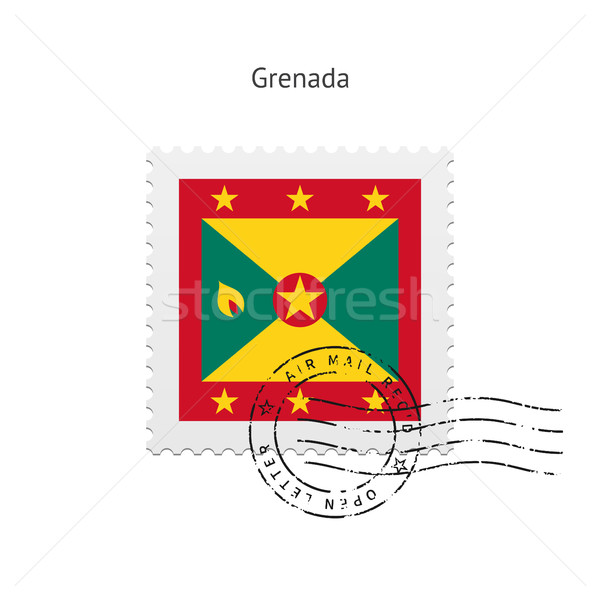 Grenada Flag Postage Stamp. Stock photo © tkacchuk
