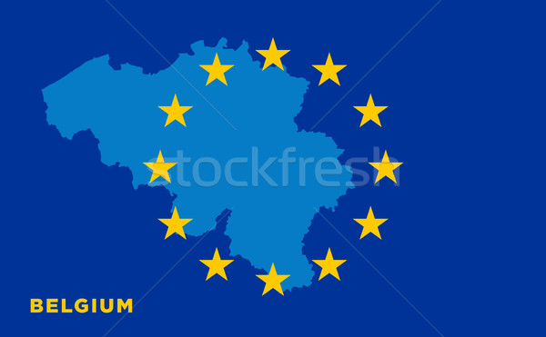 Flag of European Union with Belgium on background Stock photo © tkacchuk