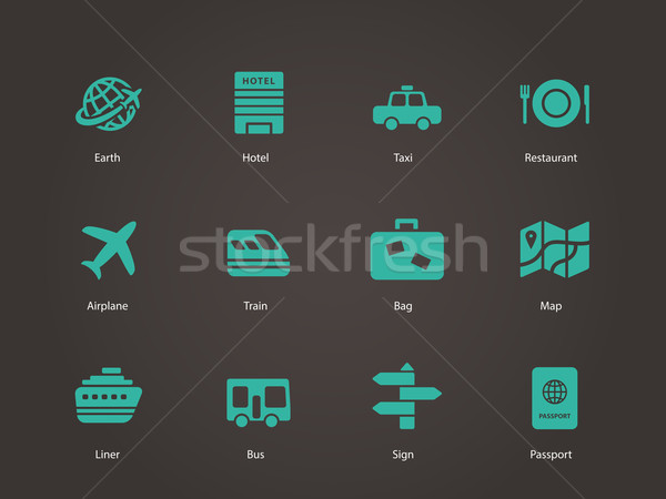 Travel icons. Stock photo © tkacchuk