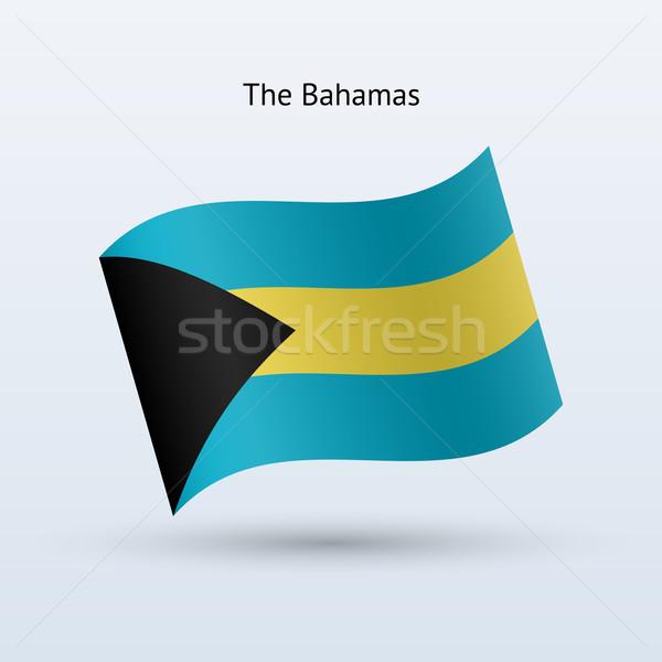 Багамские острова флаг форме серый путешествия Сток-фото © tkacchuk