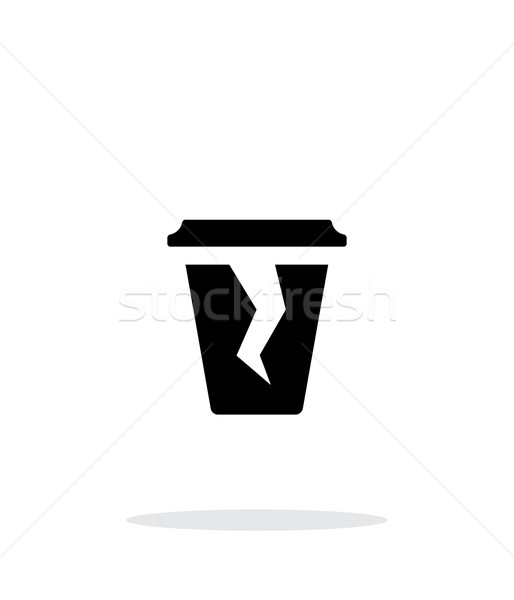 Stock photo: Damaged cup icon on white background.