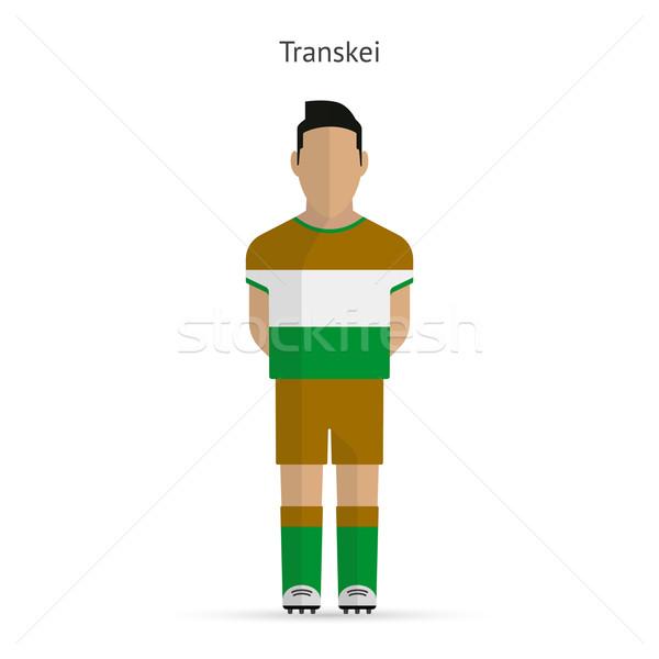 Transkei football player. Soccer uniform. Stock photo © tkacchuk