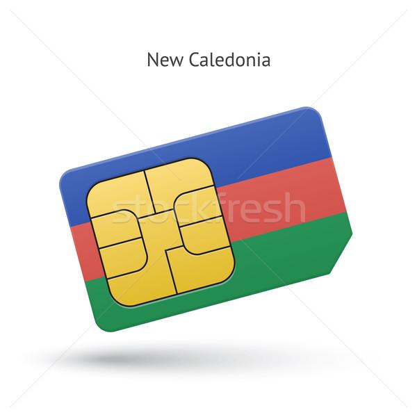 New Caledonia mobile phone sim card with flag. Stock photo © tkacchuk