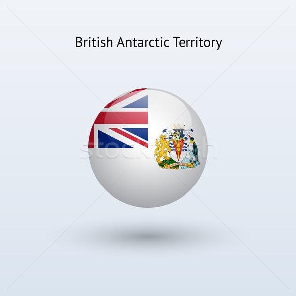 British Antarctic Territory round flag. Vector illustration. Stock photo © tkacchuk