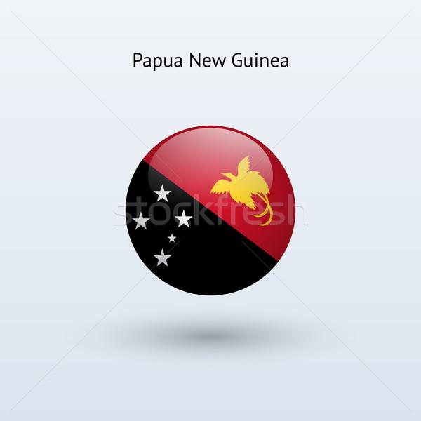 Папуа-Новая Гвинея флаг серый знак веб путешествия Сток-фото © tkacchuk