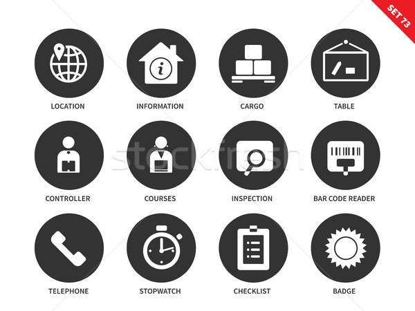 Logistics icons on white background Stock photo © tkacchuk