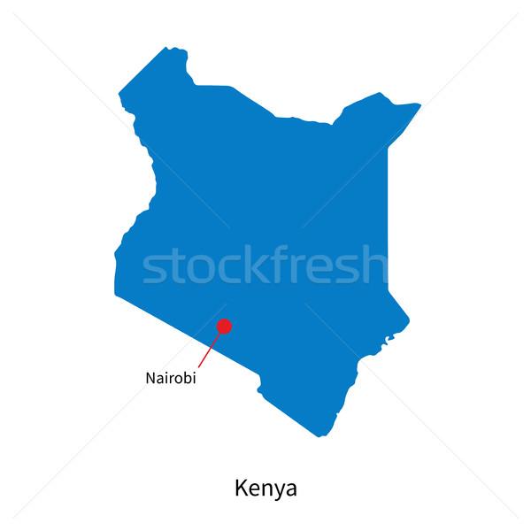 Gedetailleerd vector kaart Kenia stad onderwijs Stockfoto © tkacchuk