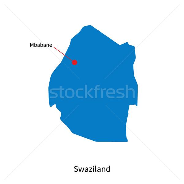 Foto stock: Detalhado · vetor · mapa · Suazilândia · cidade · educação
