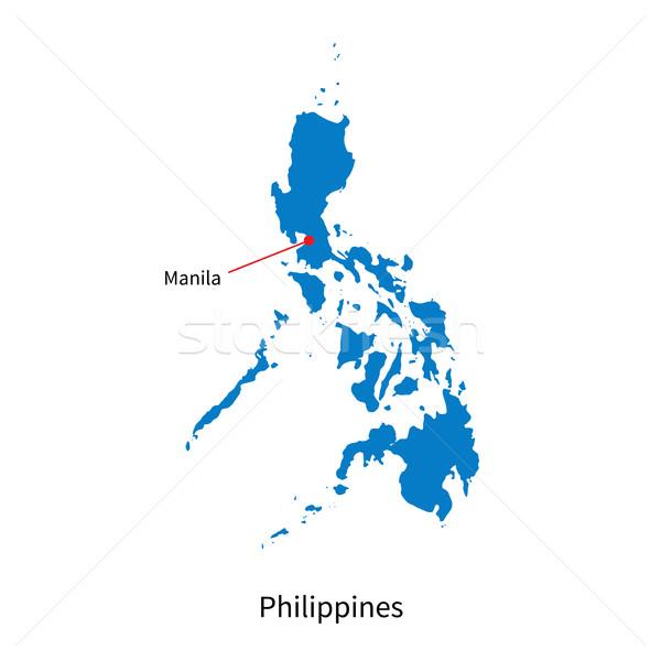 Detalhado vetor mapa Filipinas cidade Manila Foto stock © tkacchuk