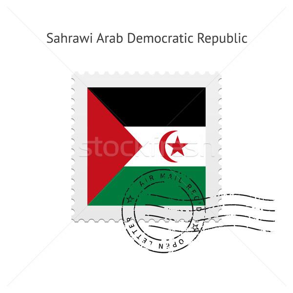 Sahrawi Arab Democratic Republic Flag Postage Stamp. Stock photo © tkacchuk