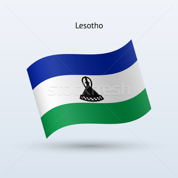 Lesotho banderą formularza szary podpisania Zdjęcia stock © tkacchuk