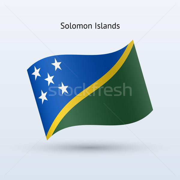 Isole Salomone bandiera forma grigio segno Foto d'archivio © tkacchuk