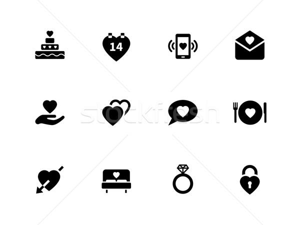Love icons on white background. Stock photo © tkacchuk