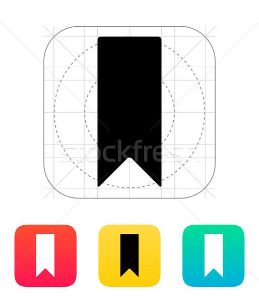 Bladwijzer icon papier ontwerp vlag lezing Stockfoto © tkacchuk