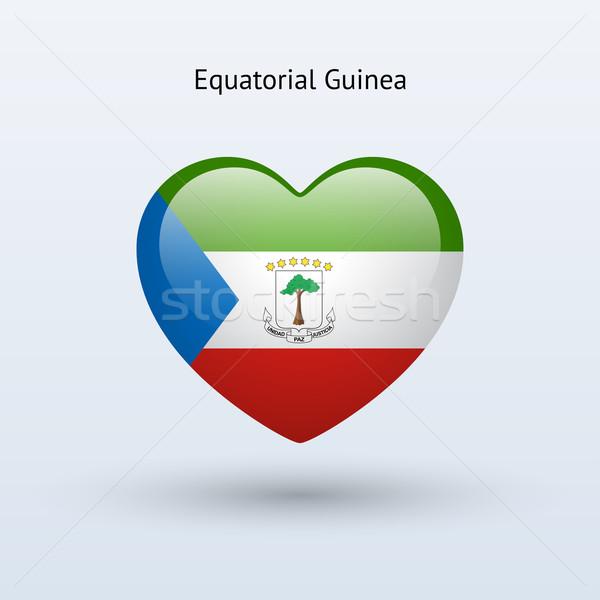 Amor Guiné Equatorial símbolo coração bandeira ícone Foto stock © tkacchuk