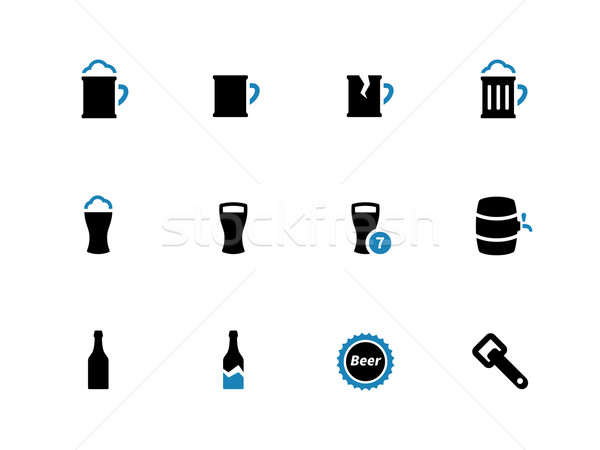 Stock photo: Beer duotone icons on white background.