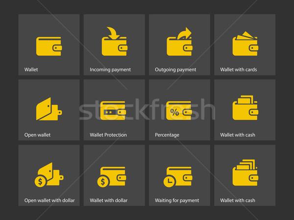 Wallet icons Stock photo © tkacchuk