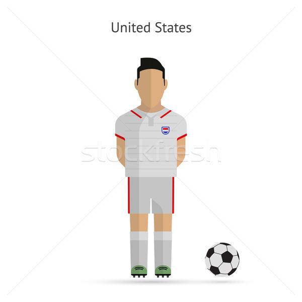 Stany Zjednoczone piłka nożna zespołu uniform człowiek Zdjęcia stock © tkacchuk