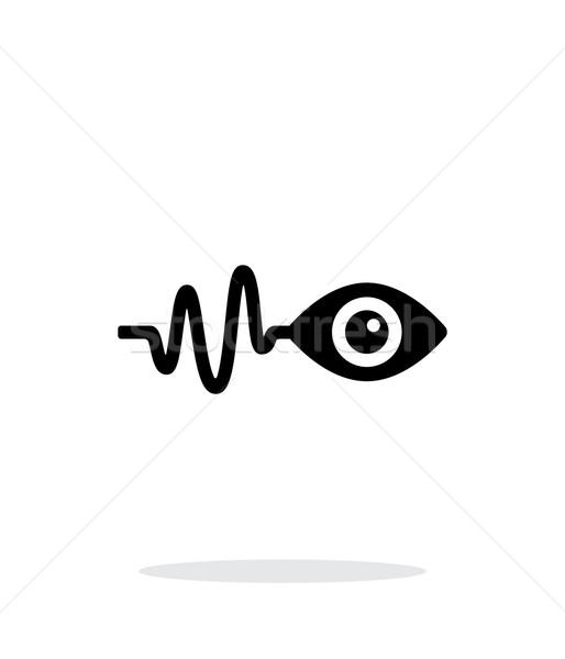 Pulse observation icon on white background. Stock photo © tkacchuk