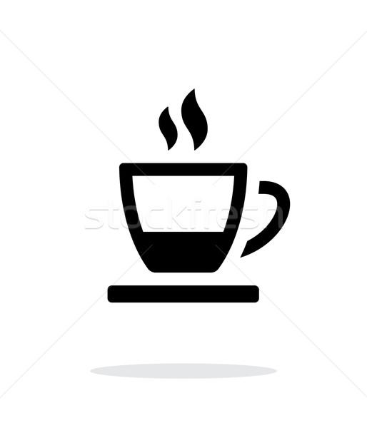 茶碗 アイコン 白 コーヒー ホーム 朝食 ストックフォト © tkacchuk