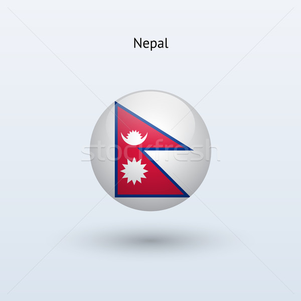 Nepal bayrak gri imzalamak web seyahat Stok fotoğraf © tkacchuk