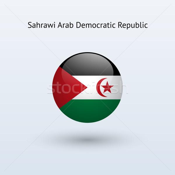 Arap demokratik cumhuriyet bayrak gri imzalamak Stok fotoğraf © tkacchuk