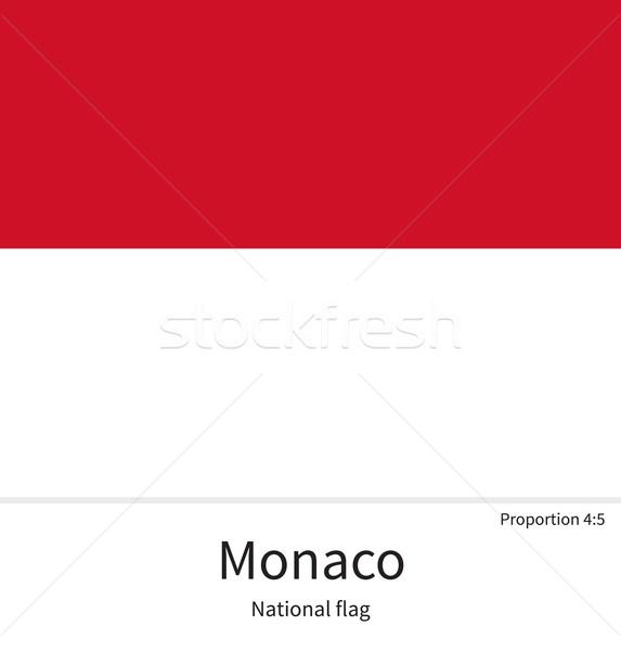 Stok fotoğraf: Bayrak · Monaco · düzeltmek · renkler · eğitim