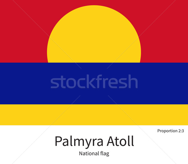 National flag of Palmyra Atoll with correct proportions, element, colors Stock photo © tkacchuk