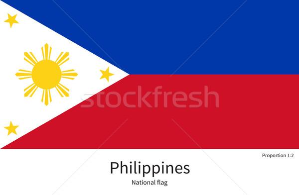Bayrak Filipinler düzeltmek renkler eğitim Stok fotoğraf © tkacchuk